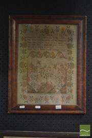 Sale 8525 - Lot 2077 - Sampler Mary Clarke 1795