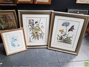 Sale 8587 - Lot 2091 - Group of (3) Decorative Botanical Prints, 89 x 72cm (2); 52 x 45cm (frame sizes)