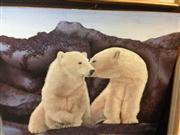 Sale 8663 - Lot 2067 - Alexander McNulty - Polar Bears, acrylic on board, 91.5 x 105cm, unsigned