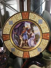 Sale 8730B - Lot 53 - Handpainted Royal Vienna Style Plate D: 24.5cm