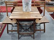 Sale 8889 - Lot 1092 - Timber 3 Piece Patio Suite