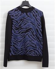 Sale 8902H - Lot 118 - A Scanlan and Theodore thick jumper with blue/purple front, black sleeves and back, size S-M