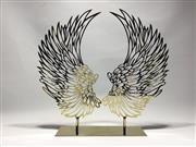 Sale 9015G - Lot 27 - A Metal Wing Sculpture.General Wear. Size:38cm H x 41cm W