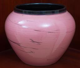 Sale 9155H - Lot 21 - An Italian glazed vase in pink finish. Height 17cm