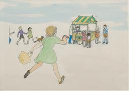Sale 9199J - Lot 38 - Ethel Spowers - Children Playing