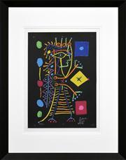 Sale 8286 - Lot 569 - Pablo Picasso (1881 - 1973) - Le Femme Aux Des (Noir), 1960 56 x 41cm