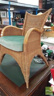 Sale 8404 - Lot 1061 - Cane & Wicker Chair