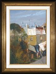 Sale 8427 - Lot 518 - Colin Parker (1941 - ) - Sydney City View 58 x 38.5cm