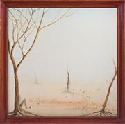 Sale 8489A - Lot 67 - PV English - Figures in a Landscape 61 x 61cm