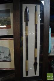 Sale 8487 - Lot 2075 - Framed Tribal Spears
