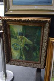 Sale 8592 - Lot 2032 - Artist Unknown - Figure Study with Fruit