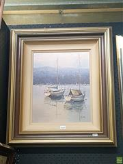 Sale 8640 - Lot 2040 - Fay Joseph Middle Harbour oil on canvas on board, 37 x 29.5cm, signed lower right