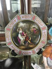 Sale 8730B - Lot 54 - Handpainted Royal Vienna Style Plate L: 23cm