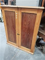 Sale 8744 - Lot 1049 - Maple Wall Mount Tool Chest with Two Doors