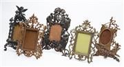 Sale 8873A - Lot 29 - Five cast brass and alloy Italian style photo frames