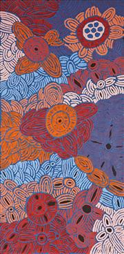 Sale 8892 - Lot 521 - Glenys Gibson Nungurrayi (1968 - ) - Womens Ceremony 200 x 98 cm (stretched and ready to hang)