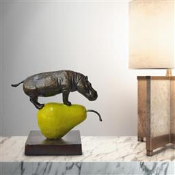 Sale 9081A - Lot 5086 - Gillie and Marc - The Hippo was just Pearfect 25 x 28 x 15 cm