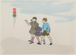 Sale 9199J - Lot 39 - Ethel Spowers - Children Walking