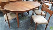 Sale 8395 - Lot 1061 - Superb Bruno Hanson Danish Teak Table & Six Chairs