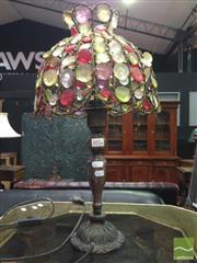 Sale 8412 - Lot 1052 - Gem Shade Table Lamp