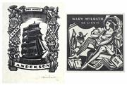 Sale 8475A - Lot 5019 - Adrian Feint (1894 - 1971) ( 2 works) - Bookplates for Colina Morna Anderson, 1932; Mary McIlrath 9 x 7cm; 7.5 x 7.5cm