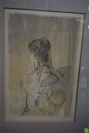 Sale 8578T - Lot 2055 - Jean Jansem (1920 - 2013) - Adelia au Panier 67 x 49cm (frame)