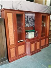 Sale 8601 - Lot 1192 - Large Multi Faced Wall Unit (H: 226 W: 303 D: 50cm)