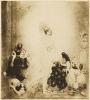 Sale 8633A - Lot 5015 - Norman Lindsay (1879 - 1969) - Sortie 22 x 20cm