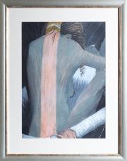 Sale 8677B - Lot 561 - Artist unknown, The Embrace, pastel on paper, 56 x 41cm