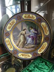 Sale 8730B - Lot 55 - Handpainted Royal Vienna Style Plate D: 24.5cm