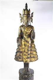 Sale 8818N - Lot 618 - Burmese Buddha Jambupati on Double Lotus Pedestal