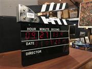 Sale 8795 - Lot 1060 - Clapper Board Style Electric Clock