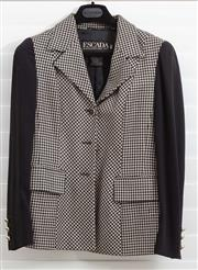 Sale 8902H - Lot 123 - An Escada by Margaretha Ley blazer with check design to torso and black sleeves, size 36