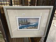 Sale 8927 - Lot 2052 - John Vander - Wild Seas, Kiama oil on board, 40 x 47cm, signed