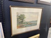 Sale 9082 - Lot 2037 - Purton - Harbour View, Watercolour, SLL, 60.5x40cm