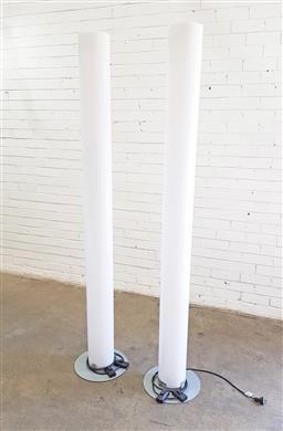 Sale 9117 - Lot 1027 - Pair of Lucite Flos Floor Lamps (h:198cm)