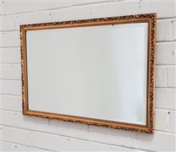 Sale 9137 - Lot 1072 - Gilt timber frame mirror ( 72 x 46cm)