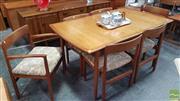 Sale 8409 - Lot 1078 - Quality Teak Table and Superb Set of Six Danish Teak Chairs