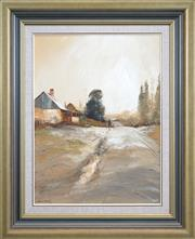 Sale 8427 - Lot 538 - Colin Parker (1941 - ) - Frosty Morn at Trunky Creek, NSW 60 x 45cm