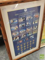 Sale 8449 - Lot 2095 - Framed 2000 Sydney Olympics Medallists