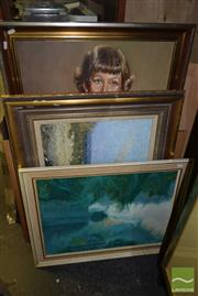 Sale 8497 - Lot 2073 - Group of (5) Assorted Artworks by Various Artists, framed