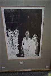Sale 8578T - Lot 2056 - Jean Jansem (1920 - 2013) - Strangers in Passing 62 x 47cm (frame)