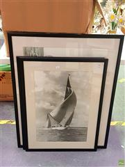 Sale 8582 - Lot 2177 - Beken of Cowes (Set 3), framed prints, frame size: 78 x 97cm, 82 x 61cm (2)