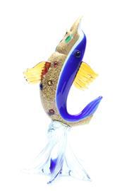 Sale 8725 - Lot 25 - Art Glass Dolphin ( H 32cm) AF