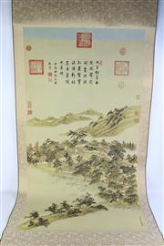 Sale 8818 - Lot 301 - Chinese Scroll Featuring A Village Scene
