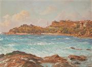 Sale 9013 - Lot 587 - John Allcot (1888 - 1973) - Fairy Bower, Manly 28.5 x 38.5 cm (frame: 45 x 55 x 3 cm)