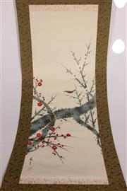 Sale 9070 - Lot 67 - A Bird Themed Chinese Scroll