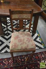 Sale 8390 - Lot 1525 - Three Edwardian Walnut Chairs