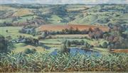 Sale 8510 - Lot 565 - Harold Lane (1925 - 2012) - Farmlands 75 x 131cm