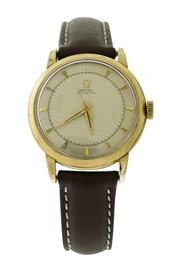 Sale 8522A - Lot 21 - A vintage Omega wristwatch with bumper automatic movement in gold plated case, circa 1950s, 33 mm, running.